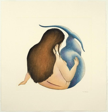 Sedna's Repose by Tim Pitsiulak 300 Artist from Cape Dorset, 2011