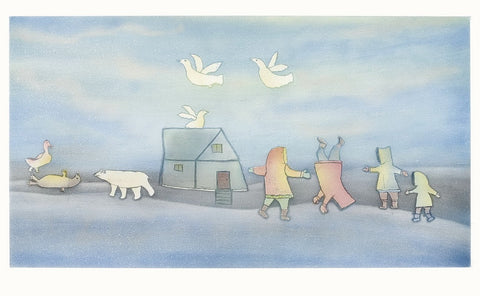Spring by Papiara Tukiki 300 Artist from Cape Dorset, 2006