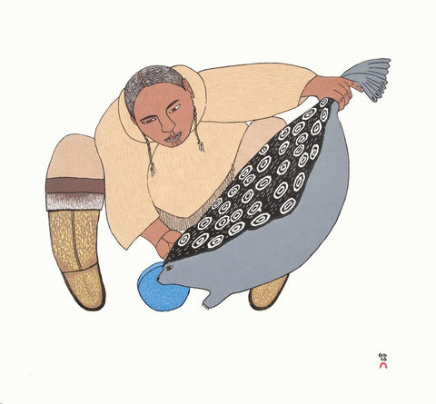 Surusiq Natsiaruqtuq (The Boy Turns into a Seal) by Ningiukulu Teevee