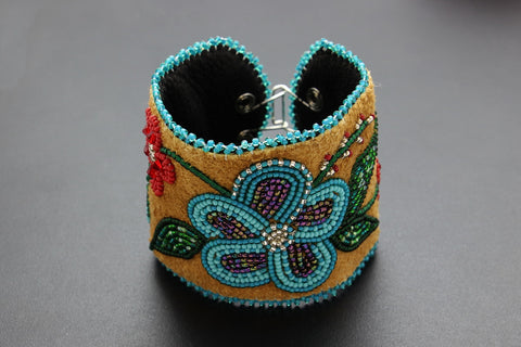 Beaded Cuff – Turquoise