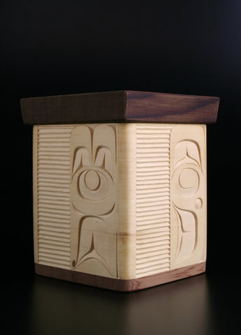 Four Guardians Bentwood Box