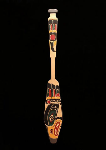Yellow Cedar Eagle Paddle by Bill Henderson Northwest Coast Artist from Kwakwaka'wakw