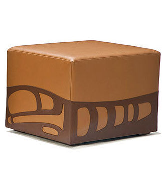 Pacific Pouf - walnut