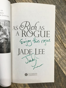 "Jade Lee ""As Rich as a Rogue"" SIGNED NEW"