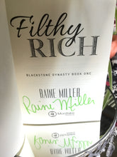 "Load image into Gallery viewer, Raine Miller ""Filthy Rich"" SIGNED NEW"