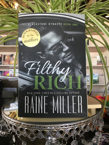 "Raine Miller ""Filthy Rich"" SIGNED NEW"