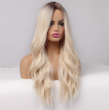 Load image into Gallery viewer, Hairccentric : Blonde Synthetic Lace front wig Becky Wig