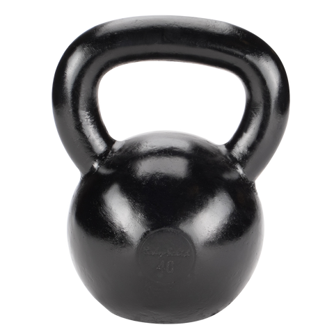 Body Solid 40lb Cast Iron Black Kettlebell