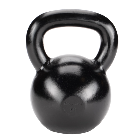 Body Solid 50lb Cast Iron Black Kettlebell