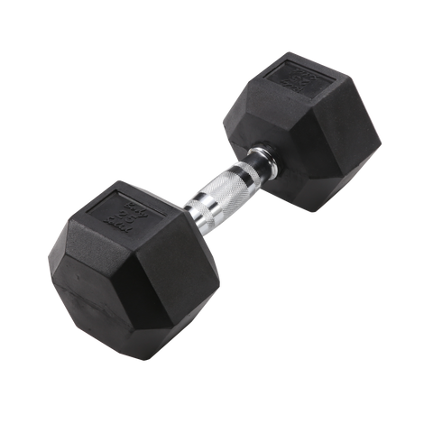 Body Solid 25lb Rubber Dumbell