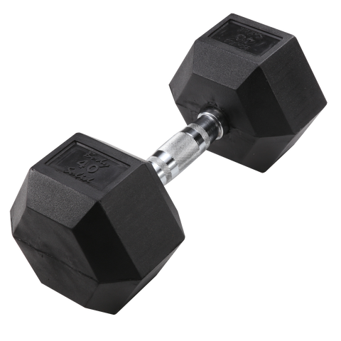 Body Solid 40lb Rubber Dumbell