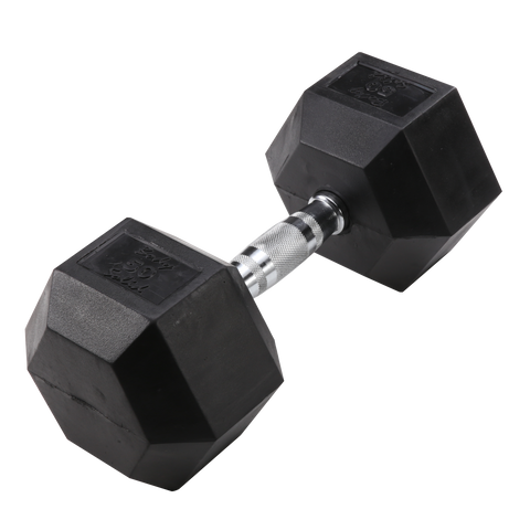 Body Solid 50lb Rubber Dumbell