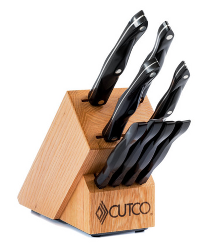 Cutco Studio + 4 Table Knives with Oak Block