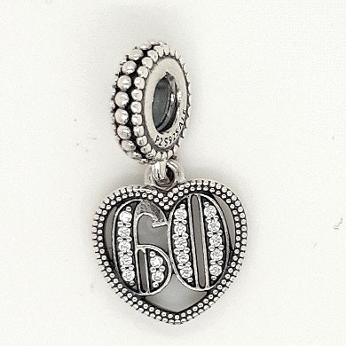 925 Silver Charm '60' Approx 2.8g Preowned