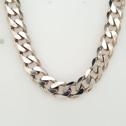 925 Silver Curb Chain Approx 91g Preowned