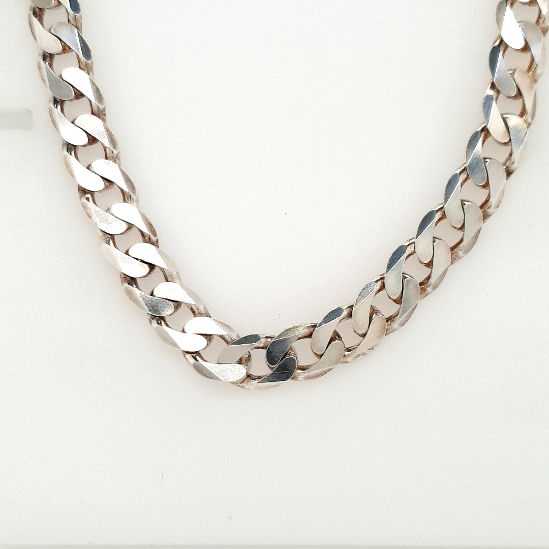 925 Silver Curb Chain Approx 55.7g
