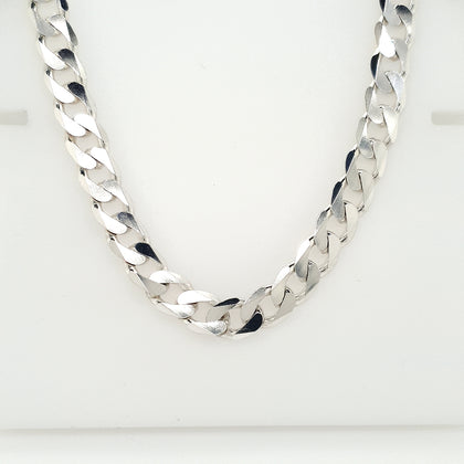 925 Silver Curb Chain Approx 54.5g Preowned