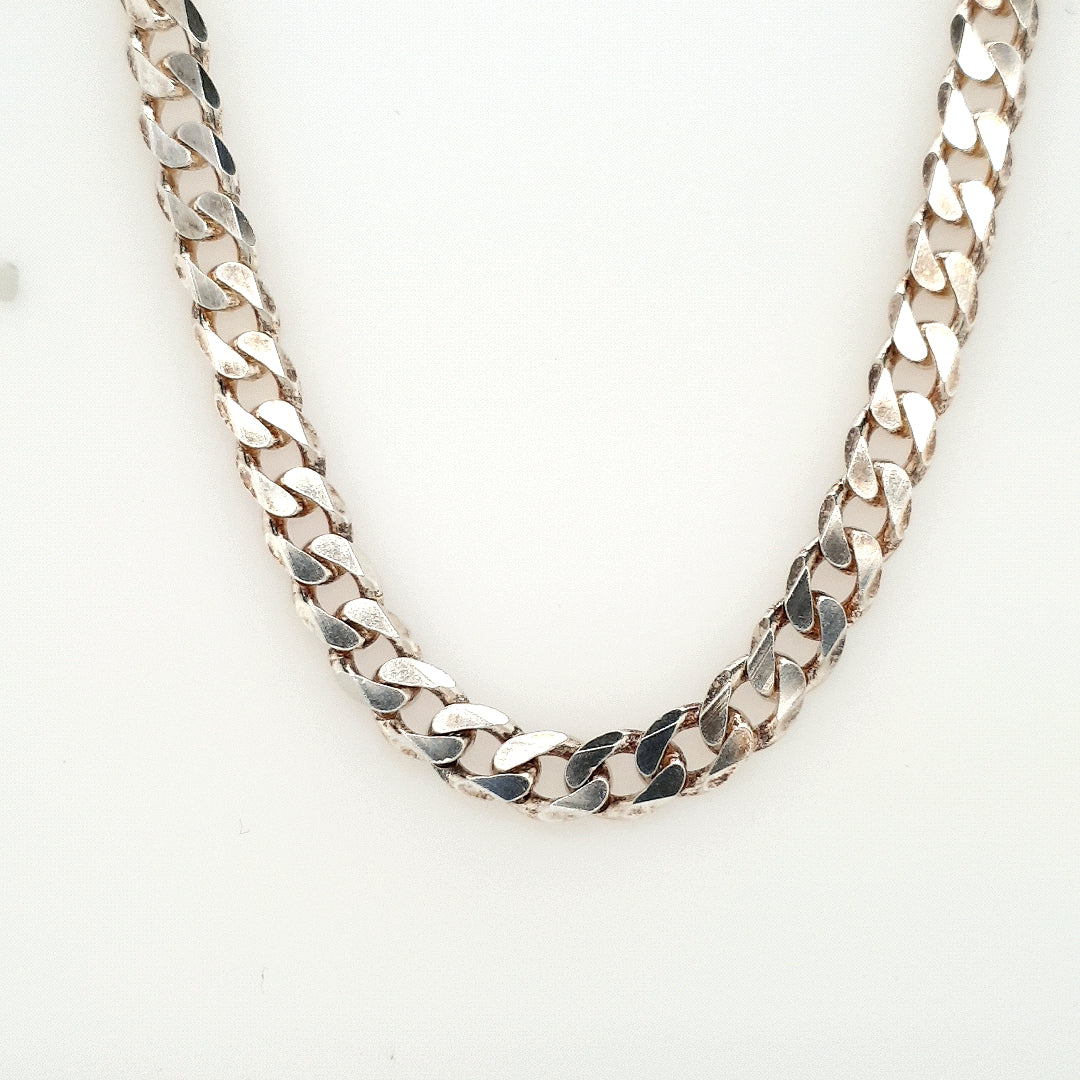 925 Silver Curb Chain Approx 41.3g Preowned