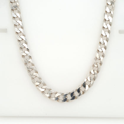 925 Silver Curb Chain Approx 36.3g Preowned