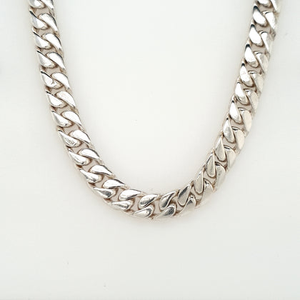 925 Silver Curb Chain Approx 82.2g Preowned