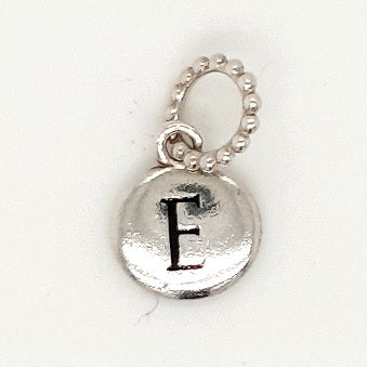 925 Silver Charm 'E' Approx 1.1g Preowned