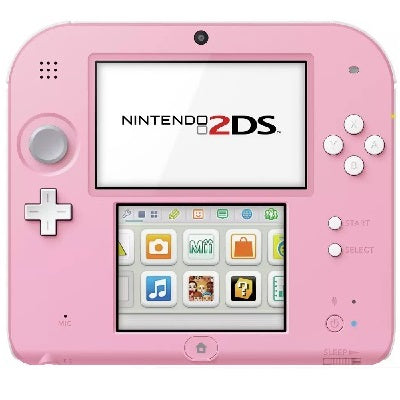 2DS Console Pink & White Preowned
