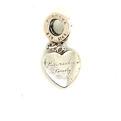 925 Silver Pandora Love Makes A Family Charm Approx 2.6g Preowned