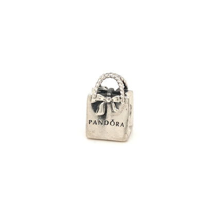 925 Silver Pandora Bag Charm Approx 5g Preowned