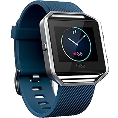 Fitbit Blaze Blue Silver Preowned