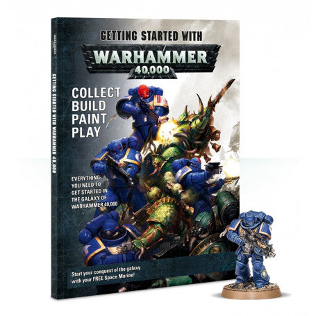 Getting Started With Warhammer 40k + Marine Book Preowned