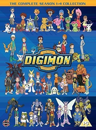 DVD Boxset - Digimon The Complete Series 1 To 4 (PG) Preowned