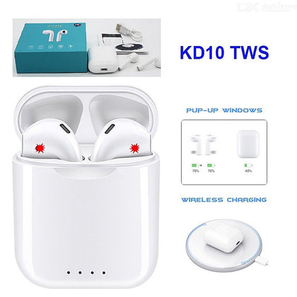 KD 10 Wireless Charging Ear Pods
