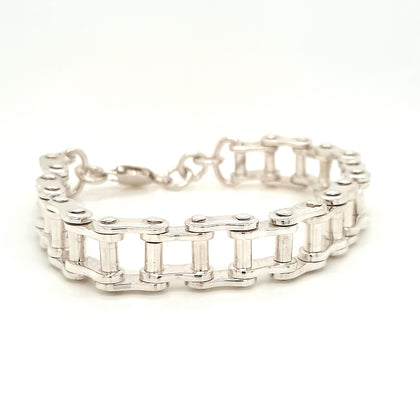 925 Silver Chain Link Bracelet Approx 64.3g Preowned