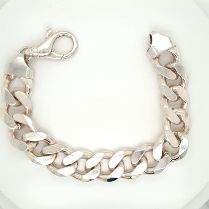 925 Silver Curb Bracelet Approx 99.6g Preowned