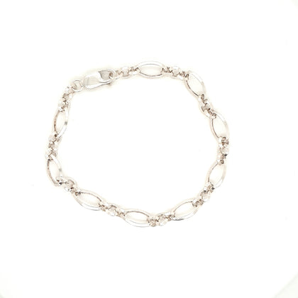 925 Silver Looped Bracelet Approx 6.7g Preowned