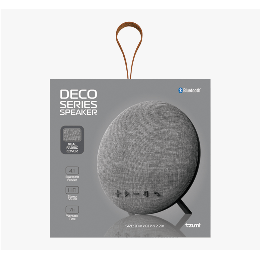 Tzumi Deco Series Bluetooth Speaker Boxed Preowned Collection Only