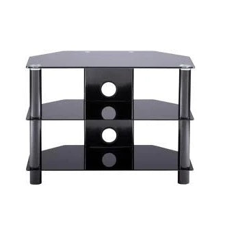 Tempered Glass TV Stand Black Collection Only Preowned