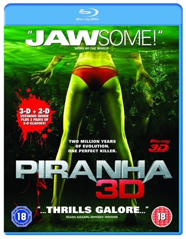 Blu-Ray - Piranha 3D (18) Preowned