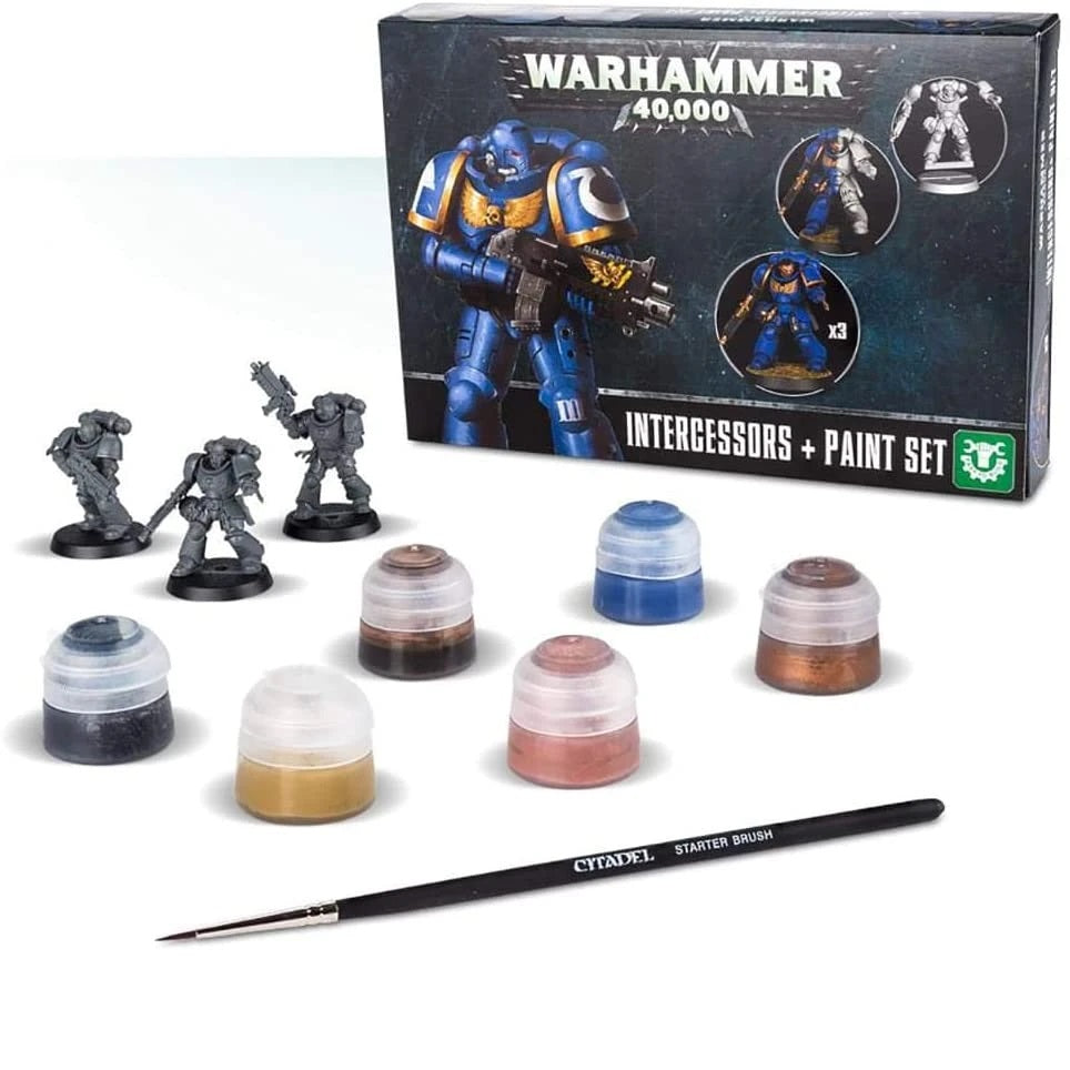 Warhammer 40k - Intercessors + Paint Set Preowned