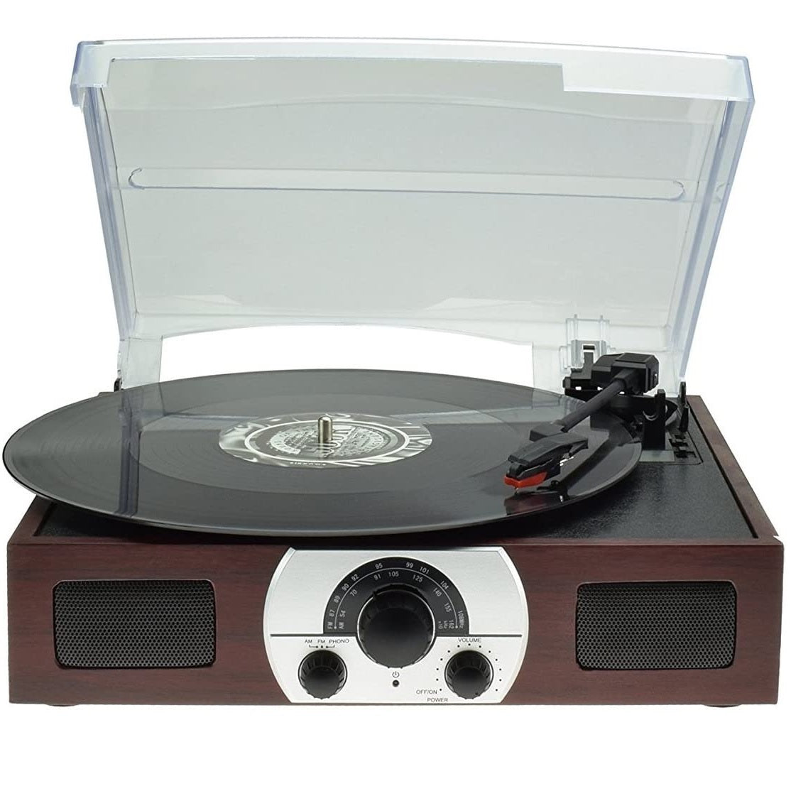 Digitnow M606 Wooden 3 Speed Retro Turntable with Built in Dynamic Stereo Speaker Preowned
