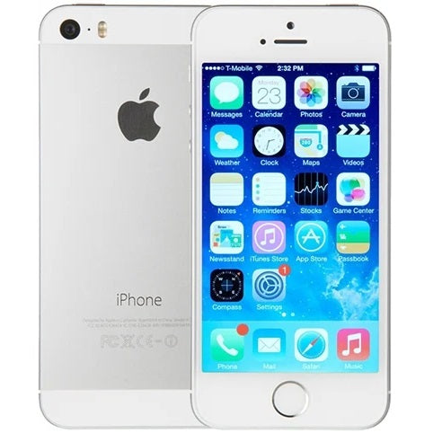Apple iPhone 5s Silver 16gb Unlocked Grade B Preowned
