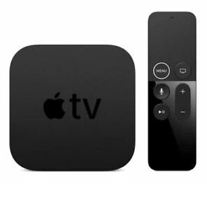 Apple TV 5th Gen 4K 32gb + Siri Black Preowned