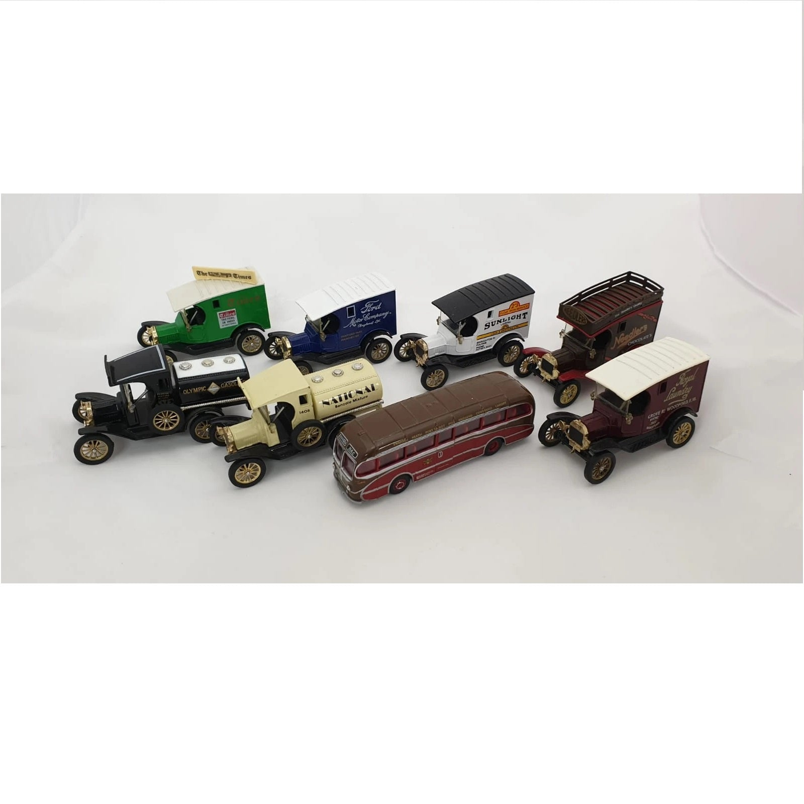 Large Toy Cars Dinky/Corgi/Oxford Diecast Collection Only Preowned