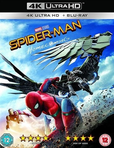 4K Blu-Ray - Spiderman Homecoming (12) Preowned