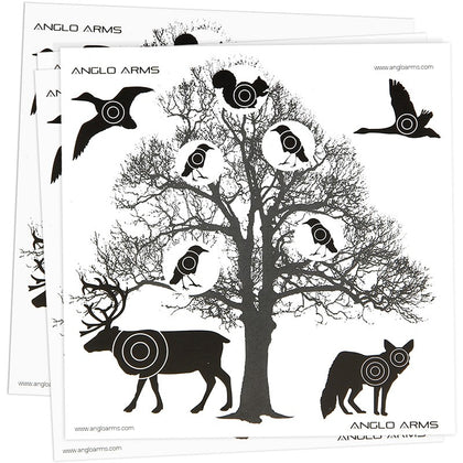 PACK OF 50 ANGLO ARMS PAPER TARGETS - TREE VERSION