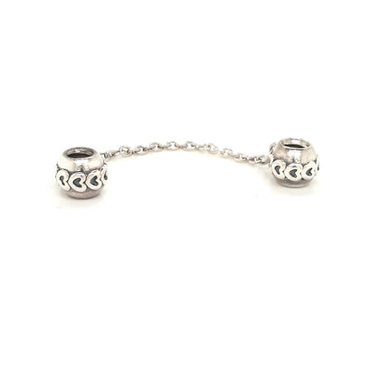 925 Silver Pandora Heart Safety Chain Approx 4.9g Preowned