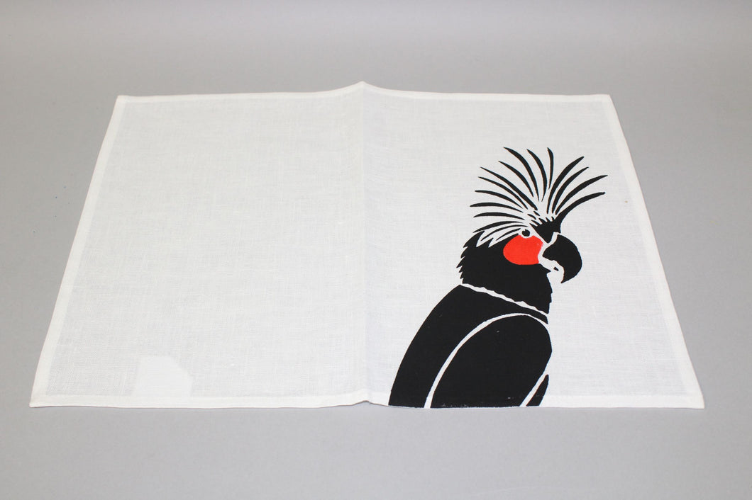 Rosie Ware - Placemat Black Cockatoo 34x46cm Flax