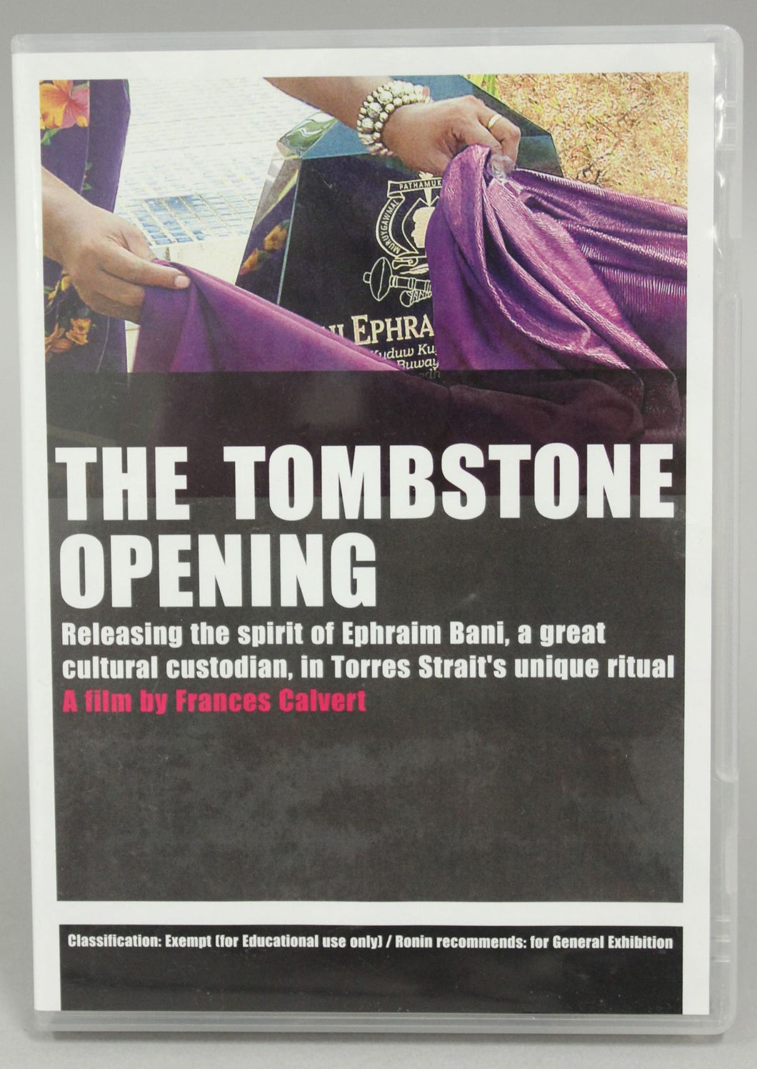 DVD – The Tombstone Opening Ephraim Bani