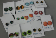 Load image into Gallery viewer, Erub Arts - Button Earrings 19mm