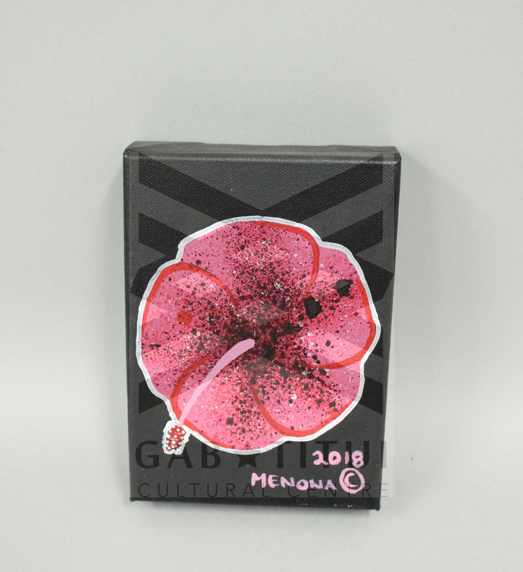 Michael Nona - Hibiscus Painting Small Canvas